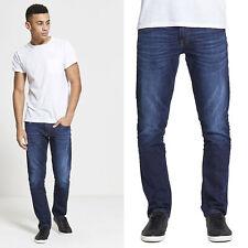 DML Maverick Slim Straight Premium Mens Designer Denim Jeans - Dark Wash Style