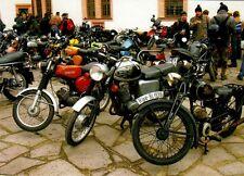 Ansichtskarte: Motorrad Simson S50 B2, MZ TS 150 und Rixe Moped, DDR-Oldtimer