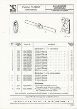 Sachs Preisliste 196.5-7 Zahnkränze Einzelteile