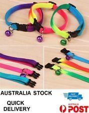 Rainbow Dog Cat Collar Pet Puppy Kitten Adjustable Harness Neck Strap with Bell