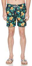 Original Penguin Floral Summer Beach Swim Shorts Surf Water Sports Blue Sapphire