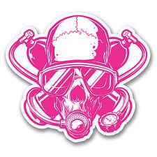 2 X 10cm Scuba Diver skull adesivo decalcomania Twinset COOL NOTEBOOK AUTO REGALO Dive # 6374