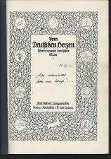 vom deutschen herzen, werke neurer deutscher maler sc 1922 written in german