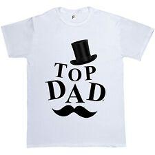 Top Hat Top Dad Orologio baffi Padri Giorno Regalo Da Uomo T-shirt