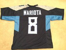 UNSIGNED CUSTOM Sewn Stitched Marcus Mariota Blue Jersey - M, L, XL, 2XL