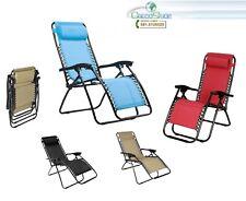 Sedia/Sdraio/Lettino reclinabile con poggiapiedi Zero Gravity