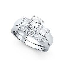 & Wedding Band Cz Bridal Rings Set 14k Yellow Or White Gold Cz Engagement Ring
