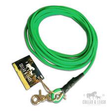 *NEU*  BIOTHANE Hundeleine Leine Fährtenleine Schleppleine 8mm Rund neon-grün