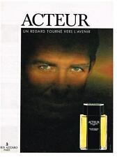 PUBLICITE ADVERTISING  1990   AZZARO  pafum  ACTEUR