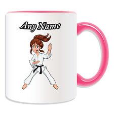 Personalised Gift Kung Fu Karate Girl Mug Money Box Cup Japan Ryukyu Kungfu Name