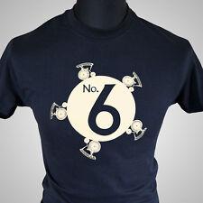 The Prisoner Number 6 Retro TV Series T Shirt Dangerman Vintage Cool Hipster Tee