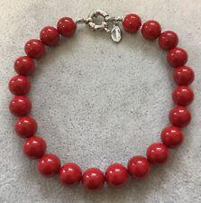 Bracciale Braccialetto Donna Perle Naturale, Rosso ,Perla ,Conchiglia, 6,8,10mm