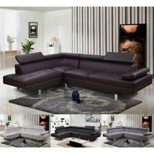 Divano angolare soggiorno sofà destro o sinistro ecopelle microfibra salotto x1
