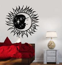 Vinyl Wall Decal Sun Moon Night Bedroom Design Symbol Stickers (798ig)