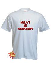 La carne è omicidio vegetariana VEGAN i diritti degli animali T Shirt Tutte le Taglie