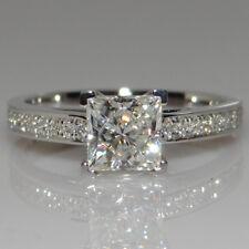 Size 4-9 Princess Cut 1ct Diamonique CZ 925 Silver Women's Wedding Bridal Ring