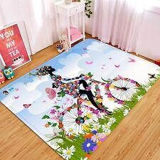 3D Bicicletta Ragazza 07 Pavimento Antiscivolo Tappeti Elegante Tappeto IT Cobb