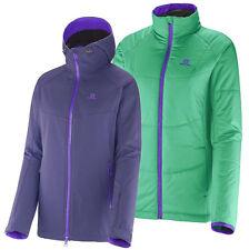 Jacke Skijacke Salomon Snowtrip Premium 3:1 Jacket W, Damen, grau lila gefüttert