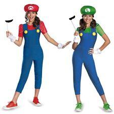 Mario and Luigi Costumes Kids Female Super Mario Bros Halloween Fancy Dress