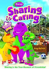Barney~Sharing Is Caring (Region1 DVD,2009)L/N~Slpcvr~Comb(39c)Ship~Buy3Get1Free