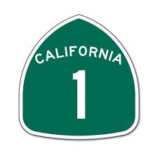 "California Route 1 Road Sign car bumper sticker decal 4"" x 4"""
