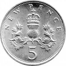 1990-2017 Regno Unito GB decimale 5P Cinque Pence monete metalliche-selezionare le date dall'elenco