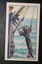 HMS Nelson  Paravane  Royal Navy Battleship  1930's Vintage Colour Card  VGC