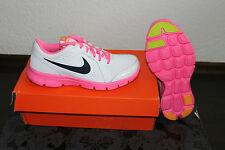 NIKE FLEX Funcionamiento De Las Mujeres Correr Zapatos Rosa weiß Größe 38 o 38,5