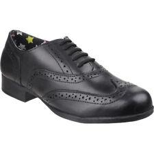 Hush Puppies Girls Kada Smart Polished Leather Brogue School Shoes