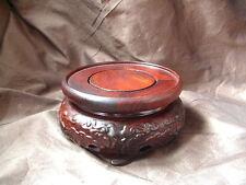 SOCLE PRESENTOIR ETAGER STATUE BOUDDHA SCULPTURE vase BOIS PALISSANDRE N.7