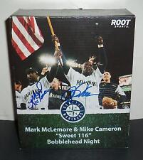 MARK MCLEMORE MIKE CAMERON DUAL SIGNED SWEET 116 SGA BOBBLEHEAD w/ PROOF!