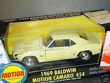 ERTL 1/18, 1969 BALDWIN MOTION CAMARO 454, Yellow, NEW