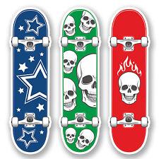 3 X 10 Cm Mini Skateboard pegatina de vinilo Ipad Laptop Skate Kids Diversión Skull # 5259