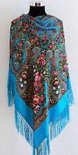 GRANDE Colorato cultura russa stile folk Scialle Sciarpa Collezione PRIMAVERA 2017