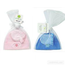 Playette Preemie Premie Baby BEANIE / CAP and MITTEN GIFT SET Boy Girl Pink Blue