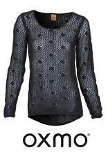 Oxmo Damen Pullover Dot-Ls   Rundhals Freizeit Clubwear Party Outfit Langarm