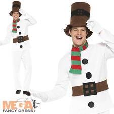Mr Snowman Mens Christmas Fancy Dress Xmas Festive Novelty Adults Costume Outfit
