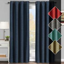 Set of 2 Galleria Grommet Top Room Darkening Window Thermal Curtain Panels