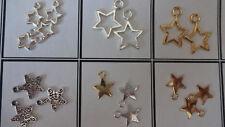 Divers style belle brigjt argent tibétain star charms pendentifs de noël 4 deco