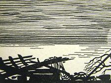 Don Blanding 1948 BROKEN FENCES Art Deco Print Matted