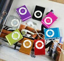 Mini Clip-on MP3 Player With Micro TF/SD Slot Portable Metal USB 2.0 Multicolor