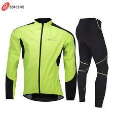 Mens Road BikeThermal Winter Cycling Jersey Pants Set Fleece Cycling Long Kits