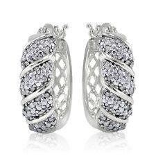 0.50ct TDW Diamond Fancy Hoop Earrings in Brass