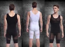 Men's Shapewear Combo-Body Slimming Vest Shirt + Thighs Legs Shorts Pants.