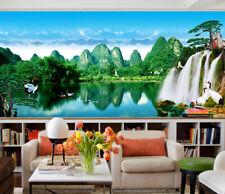 3D Green Stone Lake 76 Wall Paper Decal Dercor Home Kids Nursery Mural  Home