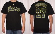 NWT Majestic Giancarlo Stanton Miami Marlins Mens Black Name & Number T-Shirt