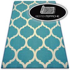 Modern Teppich CANVAS SCANDI Balta Flachflor Dicht Gewebtem Morocco Klee Spalier