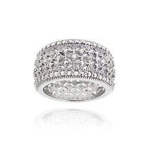 Rhodium Plated 1/4ct Diamond Filigree Band Ring