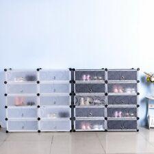 DIY Shoe Cabinet 20 Pair Shoe Boot Organiser Cupboard Wardrobe Closet Dustproof