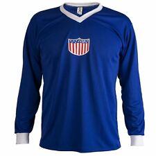 USA 1934 Camisa Retro Fútbol Manga Larga Top Hombre